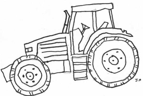 Free Coloring Pages Of Fendt Tractors