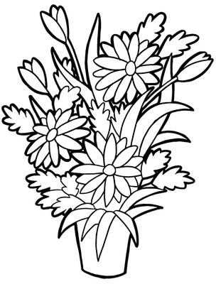 Blommor m larbilder m larbok m larbilder princessor for Disegno vaso da colorare